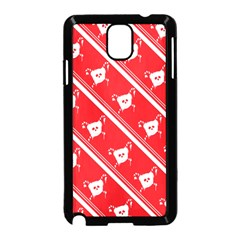 Panda Bear Face Line Red White Samsung Galaxy Note 3 Neo Hardshell Case (black)