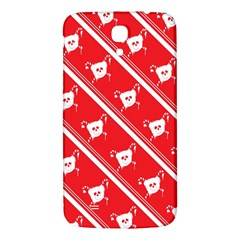 Panda Bear Face Line Red White Samsung Galaxy Mega I9200 Hardshell Back Case by Alisyart
