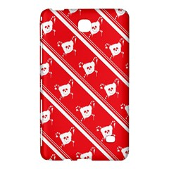 Panda Bear Face Line Red White Samsung Galaxy Tab 4 (8 ) Hardshell Case  by Alisyart