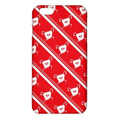 Panda Bear Face Line Red White Iphone 6 Plus/6s Plus Tpu Case