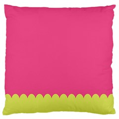 Pink Yellow Scallop Wallpaper Wave Large Cushion Case (two Sides) by Alisyart