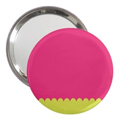 Pink Yellow Scallop Wallpaper Wave 3  Handbag Mirrors