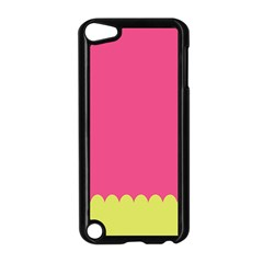 Pink Yellow Scallop Wallpaper Wave Apple Ipod Touch 5 Case (black)
