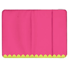 Pink Yellow Scallop Wallpaper Wave Samsung Galaxy Tab 7  P1000 Flip Case
