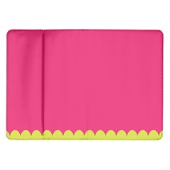 Pink Yellow Scallop Wallpaper Wave Samsung Galaxy Tab 10 1  P7500 Flip Case