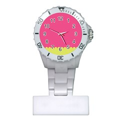 Pink Yellow Scallop Wallpaper Wave Plastic Nurses Watch