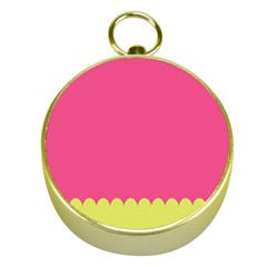 Pink Yellow Scallop Wallpaper Wave Gold Compasses
