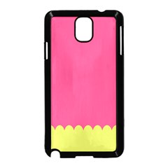 Pink Yellow Scallop Wallpaper Wave Samsung Galaxy Note 3 Neo Hardshell Case (black)