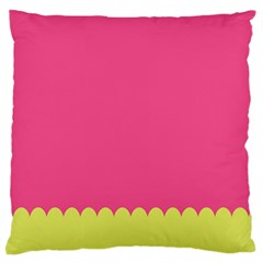 Pink Yellow Scallop Wallpaper Wave Large Flano Cushion Case (one Side) by Alisyart
