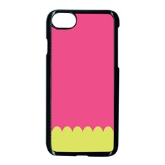 Pink Yellow Scallop Wallpaper Wave Apple Iphone 7 Seamless Case (black) by Alisyart