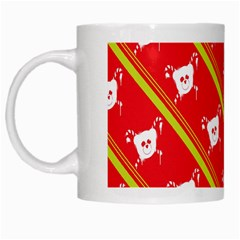 Panda Bear Face Line Red Yellow White Mugs by Alisyart