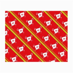 Panda Bear Face Line Red Yellow Small Glasses Cloth (2 Side)