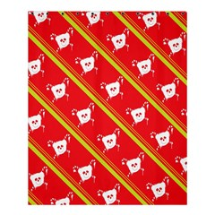 Panda Bear Face Line Red Yellow Shower Curtain 60  X 72  (medium)