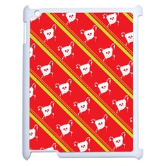 Panda Bear Face Line Red Yellow Apple Ipad 2 Case (white)