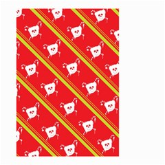 Panda Bear Face Line Red Yellow Small Garden Flag (two Sides) by Alisyart