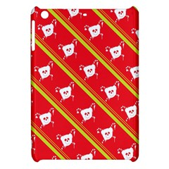 Panda Bear Face Line Red Yellow Apple Ipad Mini Hardshell Case by Alisyart