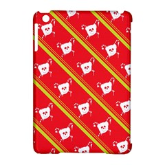 Panda Bear Face Line Red Yellow Apple Ipad Mini Hardshell Case (compatible With Smart Cover) by Alisyart