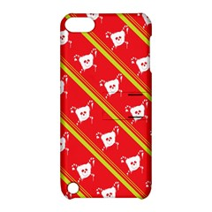 Panda Bear Face Line Red Yellow Apple Ipod Touch 5 Hardshell Case With Stand by Alisyart