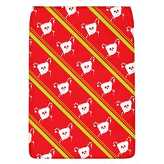 Panda Bear Face Line Red Yellow Flap Covers (l)  by Alisyart