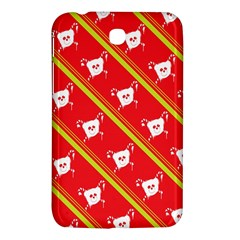 Panda Bear Face Line Red Yellow Samsung Galaxy Tab 3 (7 ) P3200 Hardshell Case  by Alisyart