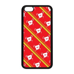 Panda Bear Face Line Red Yellow Apple Iphone 5c Seamless Case (black)