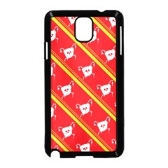 Panda Bear Face Line Red Yellow Samsung Galaxy Note 3 Neo Hardshell Case (black)