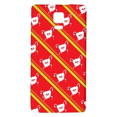 Panda Bear Face Line Red Yellow Galaxy Note 4 Back Case