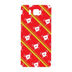 Panda Bear Face Line Red Yellow Samsung Galaxy Alpha Hardshell Back Case