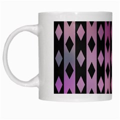 Old Version Plaid Triangle Chevron Wave Line Cplor  Purple Black Pink White Mugs by Alisyart