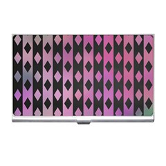 Old Version Plaid Triangle Chevron Wave Line Cplor  Purple Black Pink Business Card Holders by Alisyart