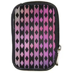 Old Version Plaid Triangle Chevron Wave Line Cplor  Purple Black Pink Compact Camera Cases by Alisyart