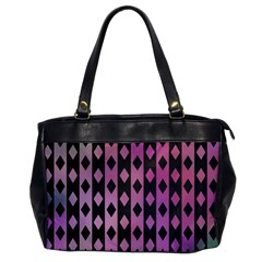 Old Version Plaid Triangle Chevron Wave Line Cplor  Purple Black Pink Office Handbags