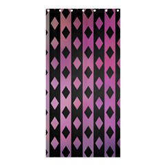 Old Version Plaid Triangle Chevron Wave Line Cplor  Purple Black Pink Shower Curtain 36  X 72  (stall)