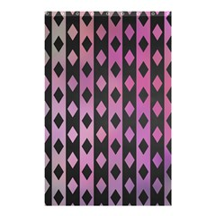 Old Version Plaid Triangle Chevron Wave Line Cplor  Purple Black Pink Shower Curtain 48  X 72  (small)