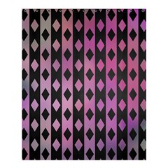 Old Version Plaid Triangle Chevron Wave Line Cplor  Purple Black Pink Shower Curtain 60  X 72  (medium)  by Alisyart