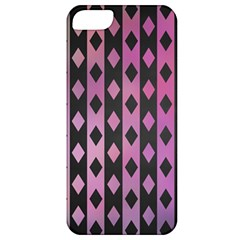 Old Version Plaid Triangle Chevron Wave Line Cplor  Purple Black Pink Apple Iphone 5 Classic Hardshell Case by Alisyart