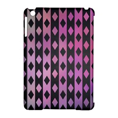 Old Version Plaid Triangle Chevron Wave Line Cplor  Purple Black Pink Apple Ipad Mini Hardshell Case (compatible With Smart Cover)
