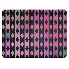 Old Version Plaid Triangle Chevron Wave Line Cplor  Purple Black Pink Samsung Galaxy Tab 7  P1000 Flip Case