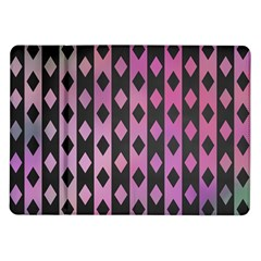 Old Version Plaid Triangle Chevron Wave Line Cplor  Purple Black Pink Samsung Galaxy Tab 10 1  P7500 Flip Case