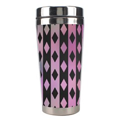 Old Version Plaid Triangle Chevron Wave Line Cplor  Purple Black Pink Stainless Steel Travel Tumblers by Alisyart