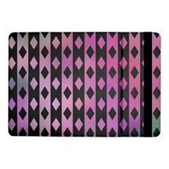 Old Version Plaid Triangle Chevron Wave Line Cplor  Purple Black Pink Samsung Galaxy Tab Pro 10 1  Flip Case by Alisyart