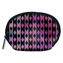 Old Version Plaid Triangle Chevron Wave Line Cplor  Purple Black Pink Accessory Pouches (medium)  by Alisyart