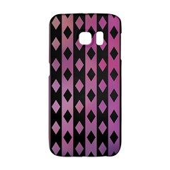 Old Version Plaid Triangle Chevron Wave Line Cplor  Purple Black Pink Galaxy S6 Edge by Alisyart