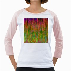 Abstract Trippy Bright Melting Girly Raglans