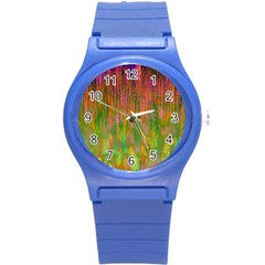Abstract Trippy Bright Melting Round Plastic Sport Watch (s) by Simbadda