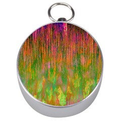 Abstract Trippy Bright Melting Silver Compasses