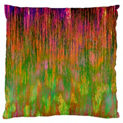 Abstract Trippy Bright Melting Large Flano Cushion Case (one Side) by Simbadda