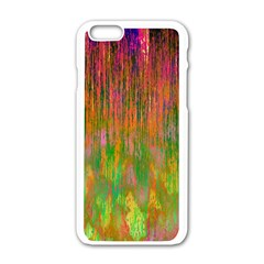 Abstract Trippy Bright Melting Apple Iphone 6/6s White Enamel Case