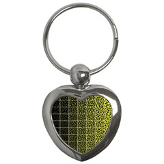 Pixel Gradient Pattern Key Chains (heart)  by Simbadda