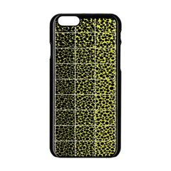 Pixel Gradient Pattern Apple Iphone 6/6s Black Enamel Case by Simbadda